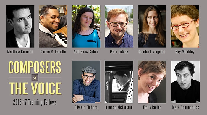 Composers & the Voice 2015-17 Training Fellows