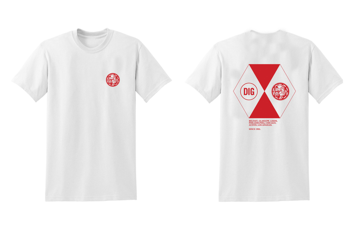 DIG 1993 T-Shirt White/Red Large