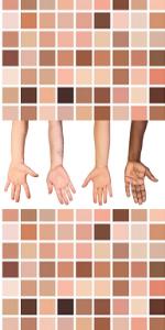 Huidskleur  weg bij naron veranderd naar beige bruin