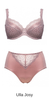 Ulla lingerie full cup padded josy in taupe