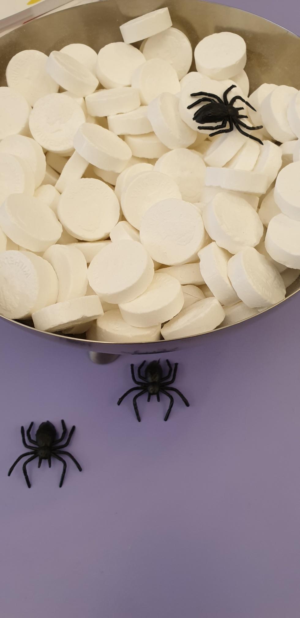 Halloween bij naron spinnen pepermunt