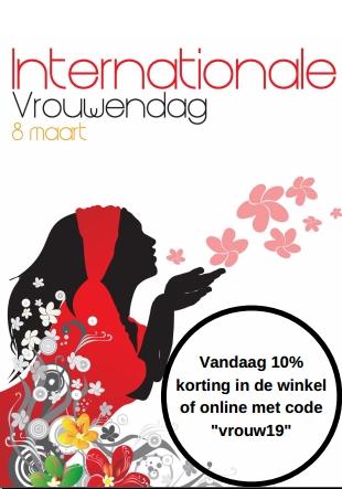 internationale vrouwendag nu 10% korting bij naron