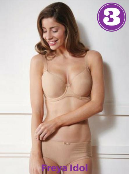 2018 Zomer bestseller nummer 3 bij Naron: Freya lingerie Idol in nude