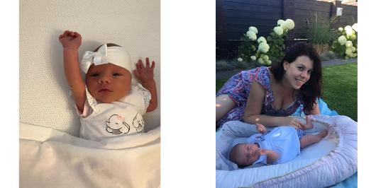 Joyce en Estelle naron baby