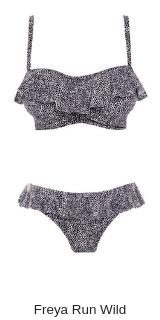 Freya Run wild bikini padded frilled baneau