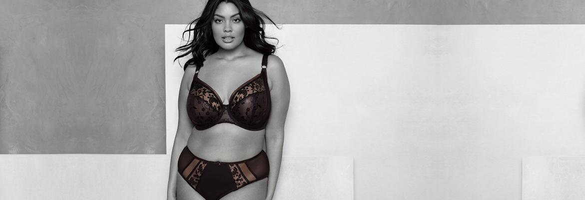 Elomi lingerie Roxanne plunge bh in black