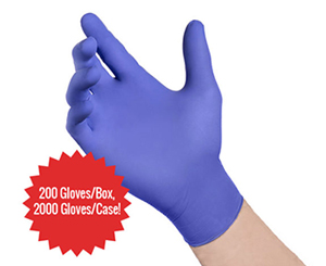 RiVAL RV400 Series Blue Nitrile Exam Gloves