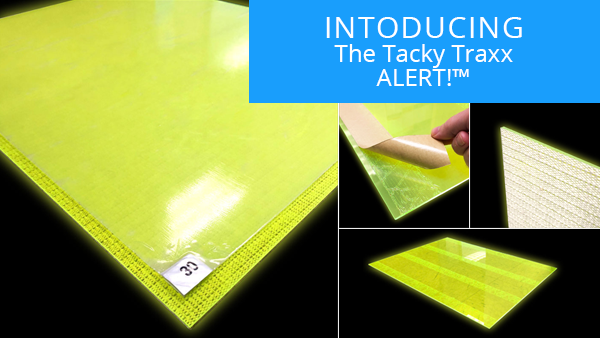 High Visibility Cleanroom Sticky Mat Frame with Glowing Edges