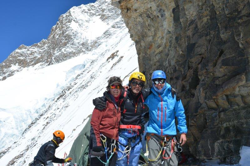 Rochelle, Iqubal and Bo at Camp  2 on K2