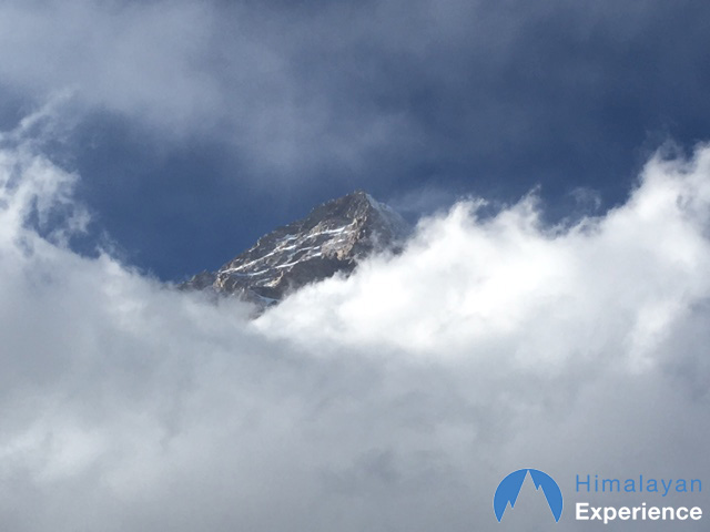 K2 peeking out of the cloud