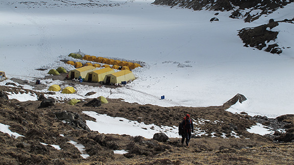 Lobuche Camp for a couple of nights