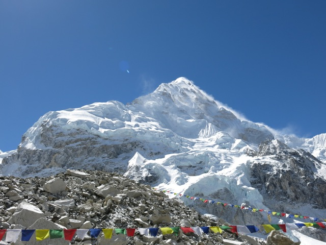 Nuptse seen from the Himex Everest Base camp