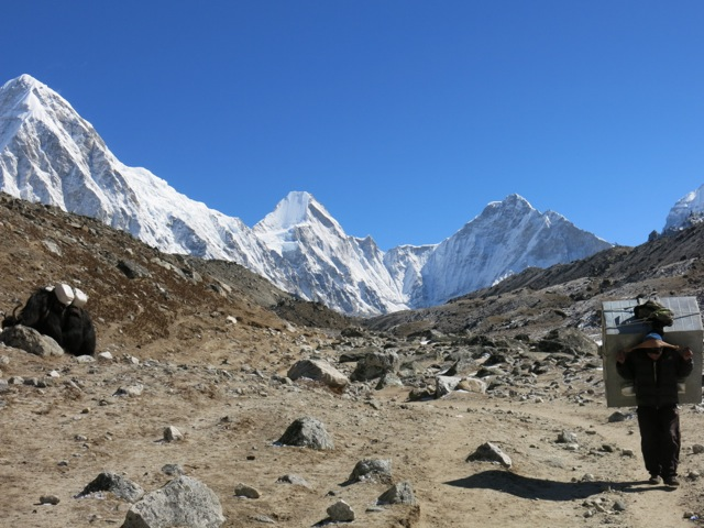 On the approach to EBC with Pumora and Lintgren on the left