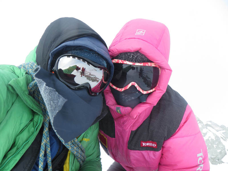 Tre-C and Jing on summit of Vinson