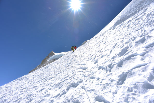 Heading towards summit