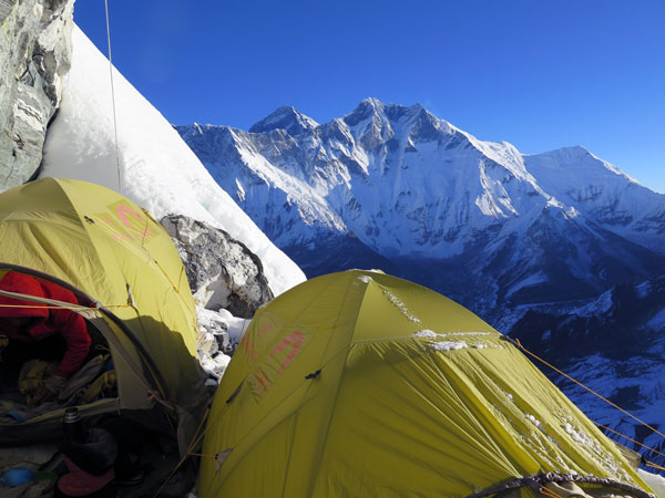 Everest & Lhotse from camp 1