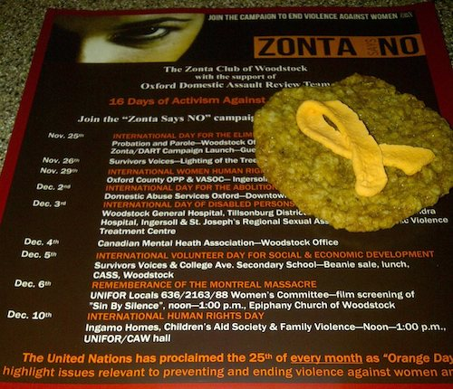 ZSN poster with cookie