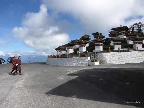 Templomi falfestmény Bhutánban
