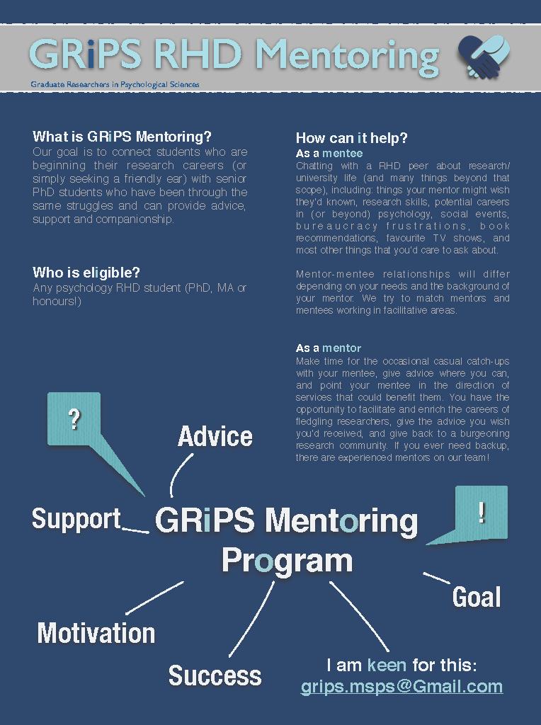 GRIPS RHD Mentoring Flyer