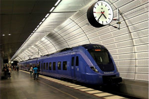 Modern subway train