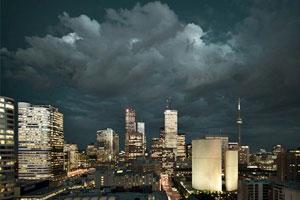 Ominous Toronto skyline