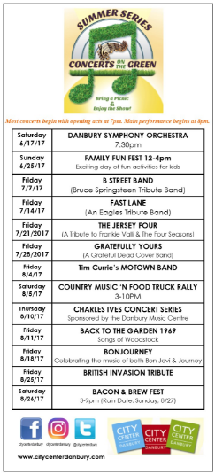 2017 Summer Series Concerts on the Green! JUNE 17 - AUG 26 @ noon