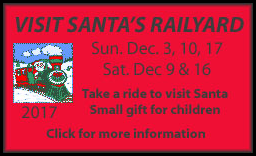 Ride a vintage train to Santa's toyland! Dec. 9-17