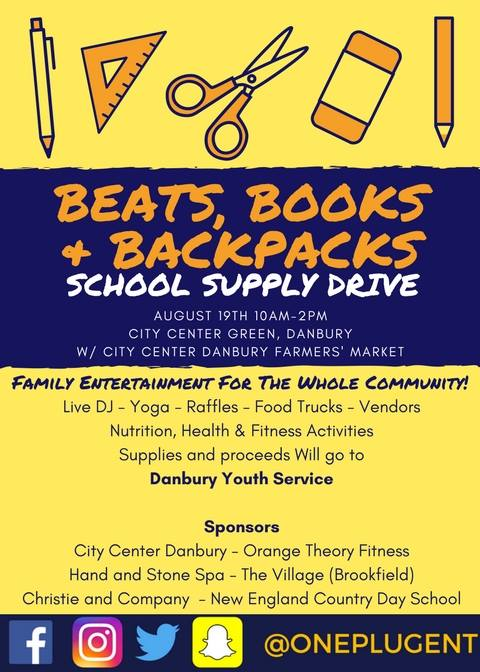 School Supply Drive Aug 19
