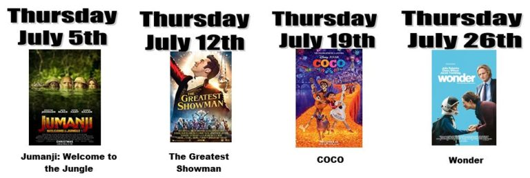 Danbury Recreation Department presents… Thursdays in July SUMMER MOVIE NIGHTS AT CANDLEWOOD LAKE!