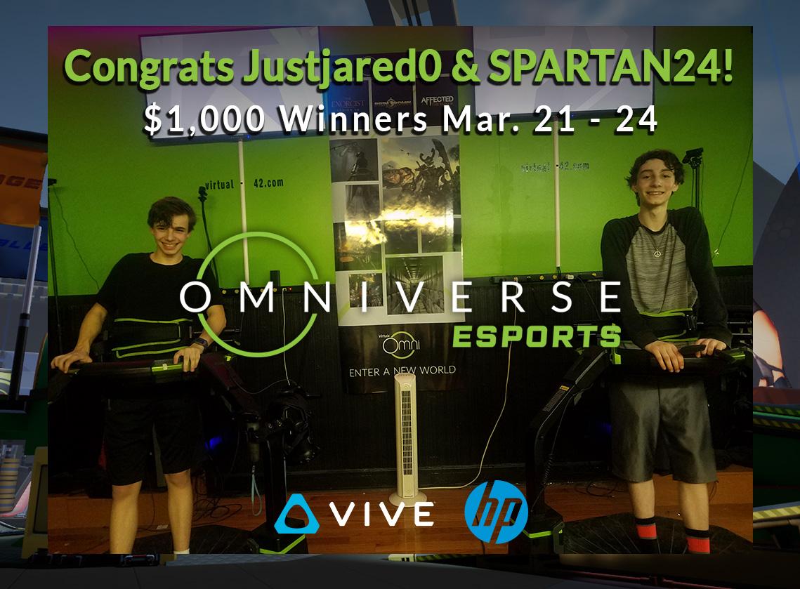 Omniverse ESPORTS winners