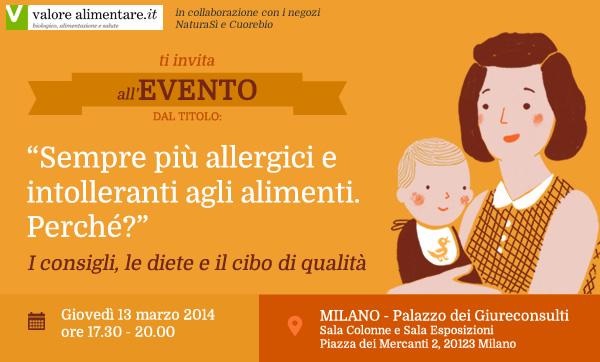 Evento sulle Allergie e Intolleranze Alimentari a Milano il 13 marzo