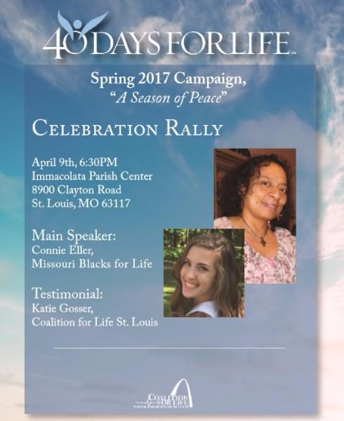 40 Days for Life Celebration Rally