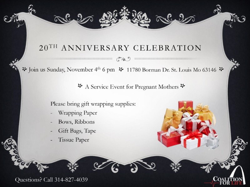 40 Days for Life St Louis 20th Campaign Celebration