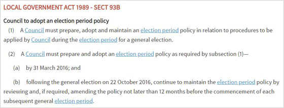 section 93B of the LG Act