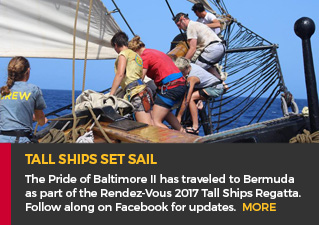 Tall Ships Set Sail - The Pride of Baltimore II has traveled to Bermuda as part of the Rendez-Vous 2017 Tall Ships Regatta. Follow along on Facebook for updates.