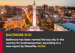 Baltimore is #1 - Baltimore has been named the top city in the country for businesswomen, according to a new report by ShareFile. MORE