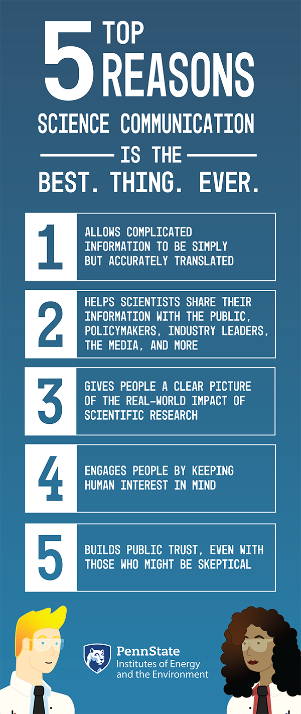 top five reason science communication is the best thing ever