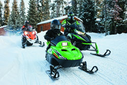 Snowmobiling Adventures: image used with permission by Arctic Cat.