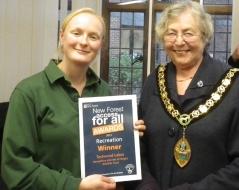 Grace Hall receiving Award