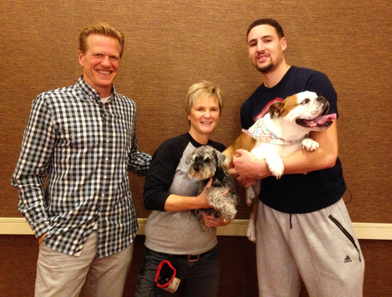 Klay Thompson dog training shoot with Ric Bucher