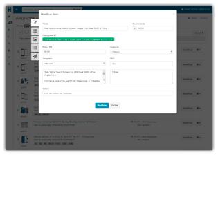 Captura de tela: Alteração de anúncio