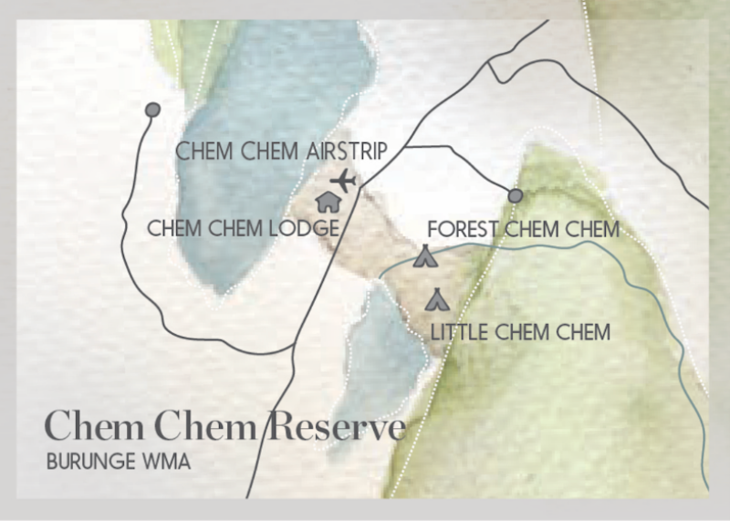 Map of Chem Chem & New Airstrip Location