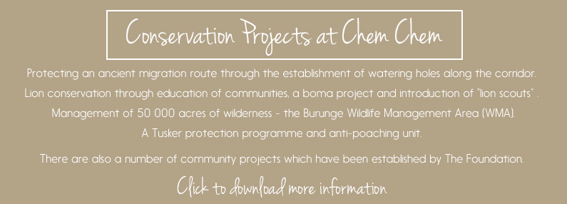Conservation projects at Chem Chem Safaris - Tanzania