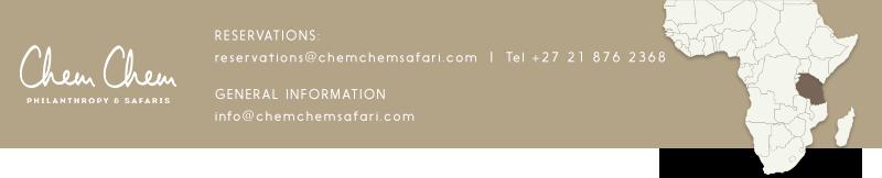 Chem Chem Reservations: reservations@chemchemsafari.com