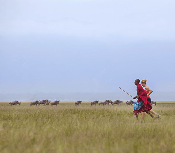 Running with the Maasai...