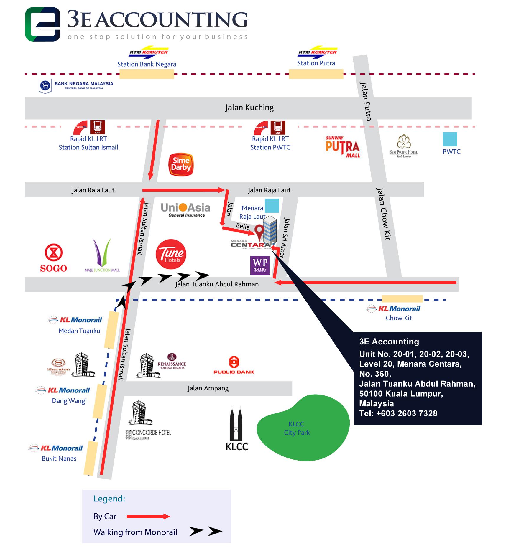3E Accounting Malaysia Map Guide