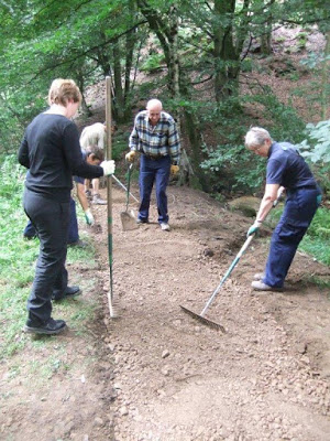 Resurfacing a path in Fishpond Wood