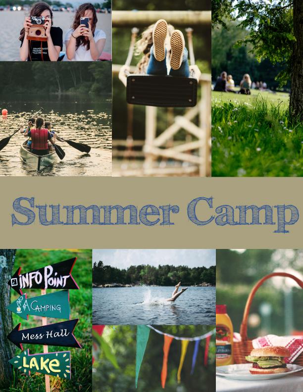 Summer Camp Moodboard
