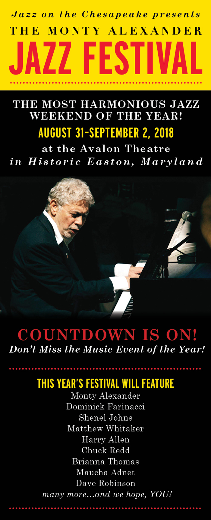 The Countdown is on for the Monty Alexander Jazz Festival!