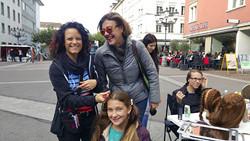 Charity Initiatorin Melanie Hegewald (li.) und Astrid von Reding.